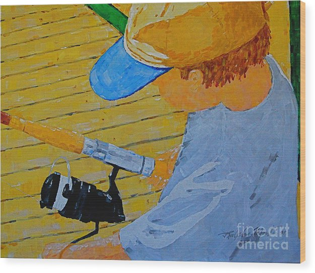 Children Wood Print featuring the painting Great Tradition by Art Mantia