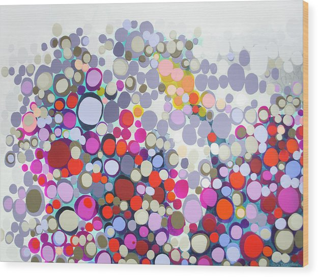 Abstract Wood Print featuring the painting In The Winter by Claire Desjardins