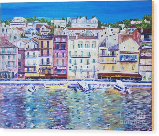France Wood Print featuring the painting Mediterranean Morning by JoAnn DePolo