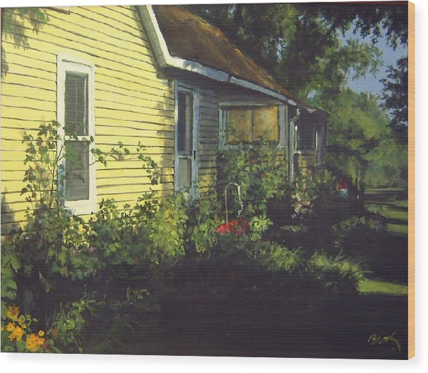 Country Wood Print featuring the painting Aunt Betty by William Brody