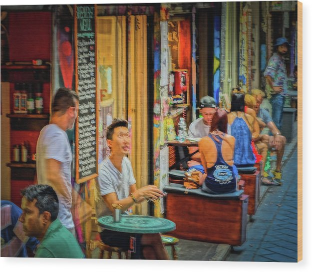 Degraves St Melbourne Wood Print featuring the photograph Melbournestyle by Noel Buttler