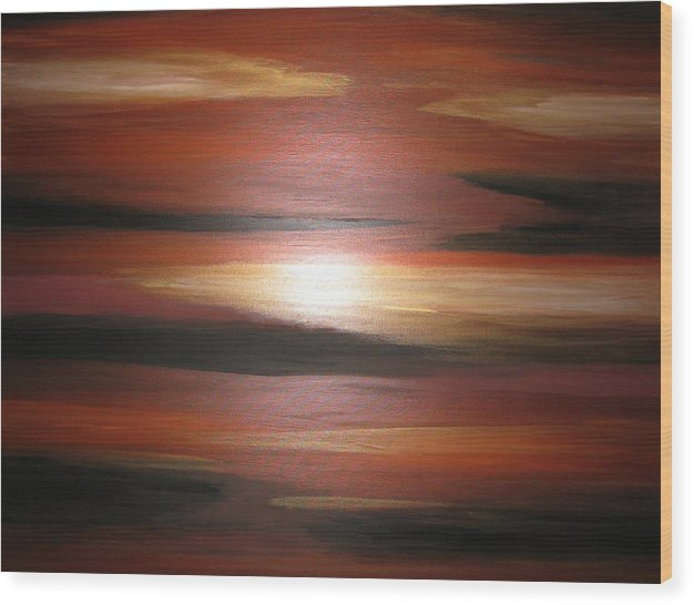 Landscape Art Wood Print featuring the painting See The Light by Sandra Lunde