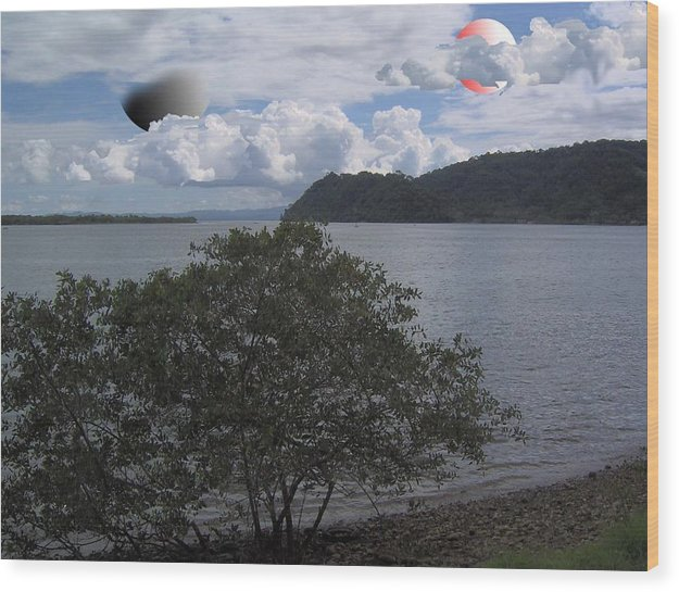 Land Scape Sci-fi Wood Print featuring the photograph The Coolness Of Other Planets by Giles b Liddell