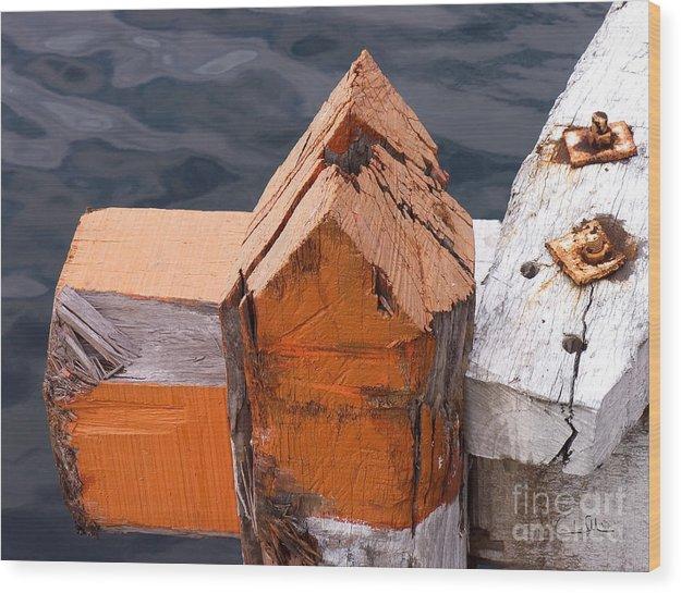Pillar Wood Print featuring the photograph Wood Pillar by Carlos Alvim