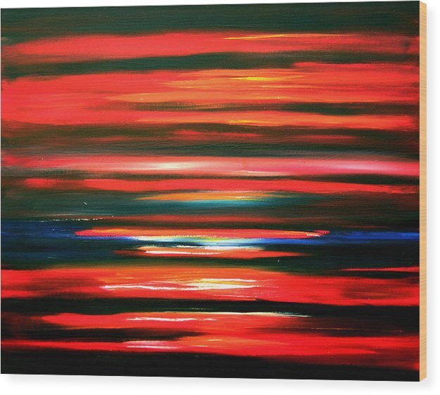 Caribbean Wood Print featuring the painting Fire Water by Sula Chance