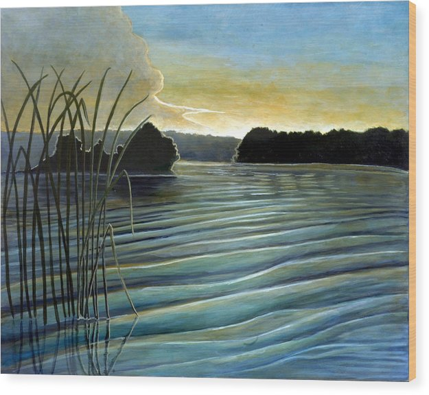 Rick Huotari Wood Print featuring the painting What A Beautifull Morning by Rick Huotari