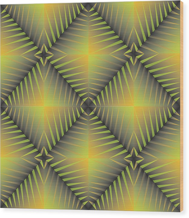Optical Geometric Visual Digital Art Giclee Print Wood Print featuring the digital art Star Burst's R by James Sharp