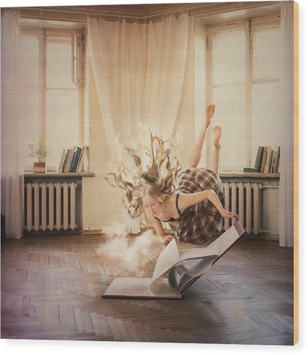 Floating Wood Print featuring the photograph The Volume With Clouds by Anka Zhuravleva