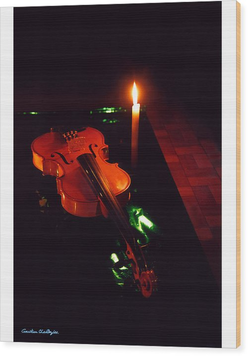 Violin Wood Print featuring the photograph The Violin by Gautam Chatterjee