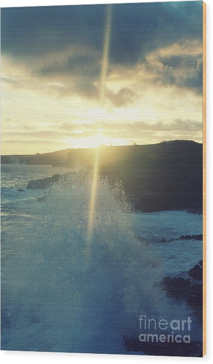 Ocean Wood Print featuring the photograph Dances With Light by Deena Otterstetter
