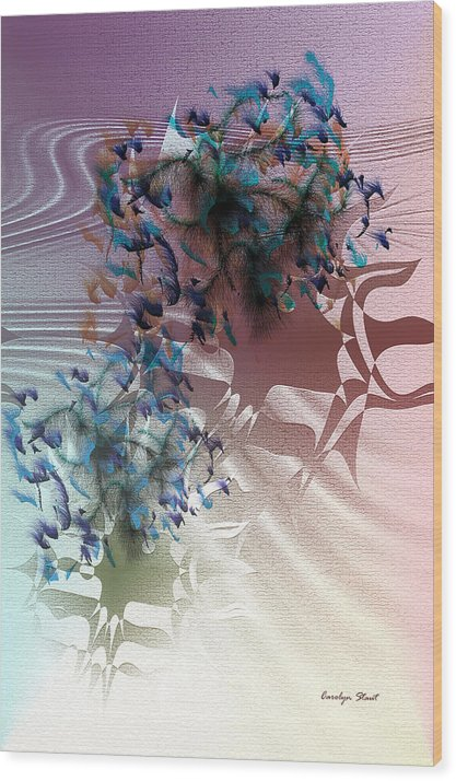 Abstract Realism Fashion Ladies Hats Feathers Wood Print featuring the digital art Fashion Show by Carolyn Staut