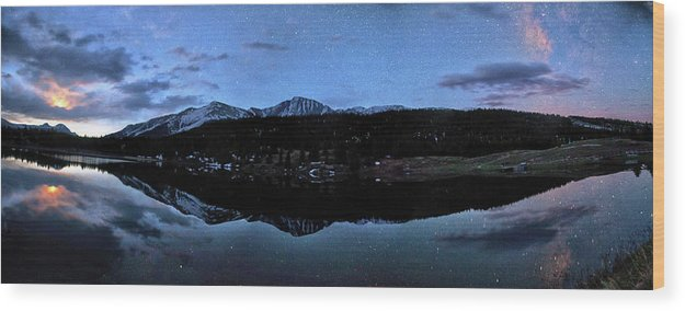 Scenics Wood Print featuring the photograph Colorado Moon To Milk by Mike Berenson / Colorado Captures