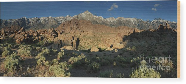 Mountains Wood Print featuring the photograph Mountain Light by Rick Mann