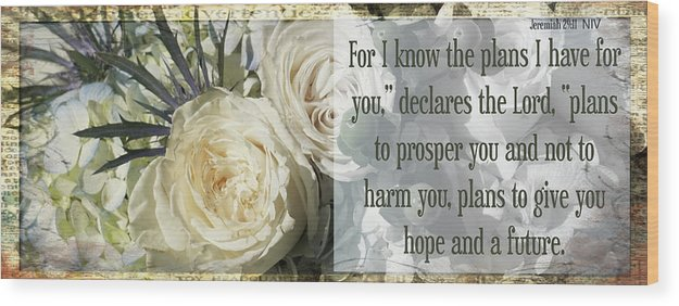 Jeremiah 29:11 Wood Print featuring the photograph Retirement 3 by Karen Beasley