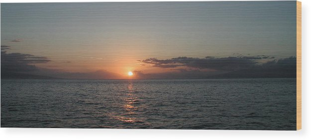 Sunset Wood Print featuring the photograph Sunset In Maui by Bj Hodges