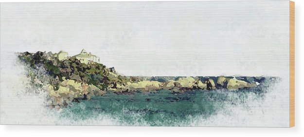 Sea Scene Wood Print featuring the painting Waters Edge by Ronald Rosenberg