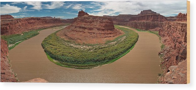 3scape Photos Wood Print featuring the photograph Colorado River Gooseneck by Adam Romanowicz