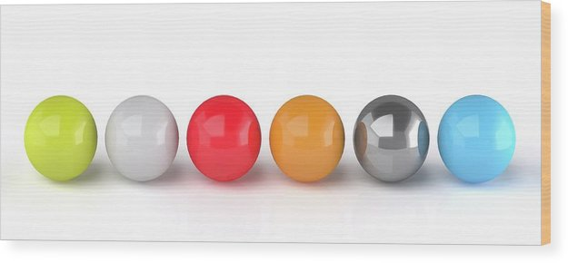 Sphere Wood Print featuring the photograph Spheres by Wladimir Bulgar/science Photo Library