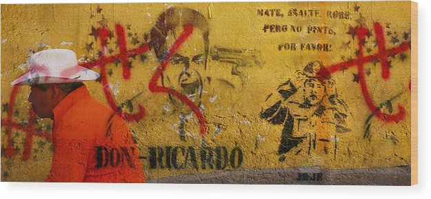 Grafitti Wood Print featuring the photograph Don-ricardo by Skip Hunt