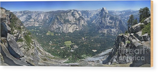 Sierra Wood Print featuring the photograph Glacier Point Panorama - Yosemite Valley by Bruce Lemons