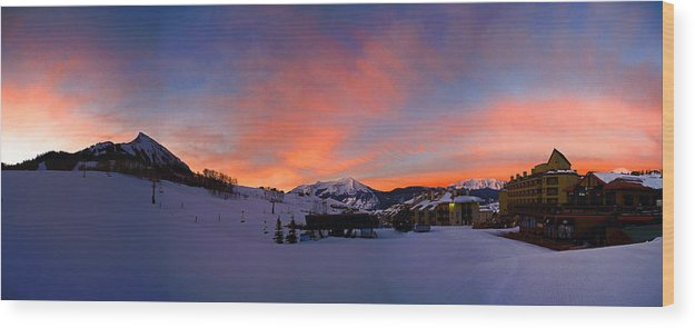 Mount Crested Butte Wood Print featuring the photograph Mount Crested Butte by Raymond Salani III