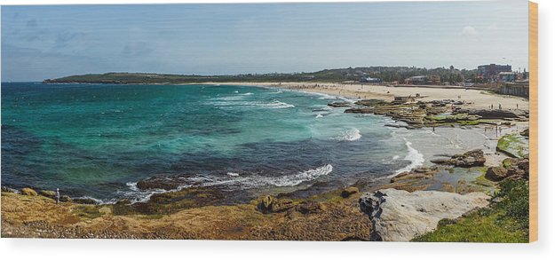 Maroubra Wood Print featuring the photograph Maroubra Bay by Sean H Choe