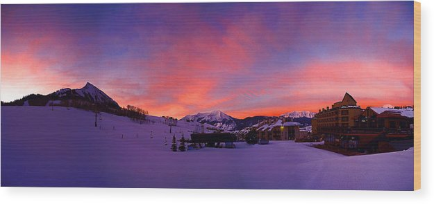 Mount Crested Butte Wood Print featuring the photograph Mount Crested Butte 2 by Raymond Salani III