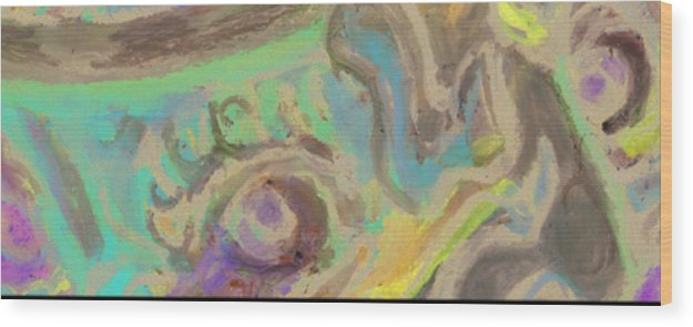 Art For Sale Online. Wood Print featuring the mixed media Abstract Art By Derrick Hayes by Derrick Hayes