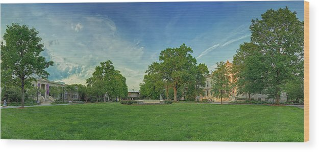 American Wood Print featuring the photograph American University Quad by Metro DC Photography