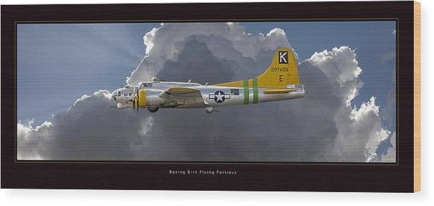 B-17 Flying Fortress Framed Prints Wood Print featuring the photograph Boeing B-17 by Larry McManus