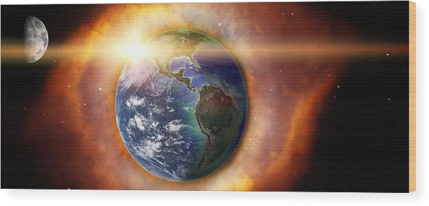 Earth Wood Print featuring the photograph End Of Days by Matthew Gibson