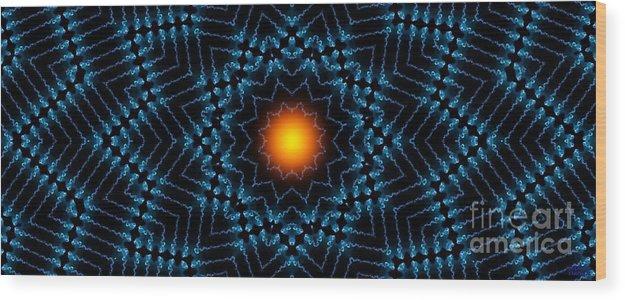 Hanza Turgul Wood Print featuring the digital art Intensity by Hanza Turgul