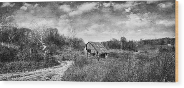 Barn Wood Print featuring the photograph Spencer Barn by Stephen Hooker