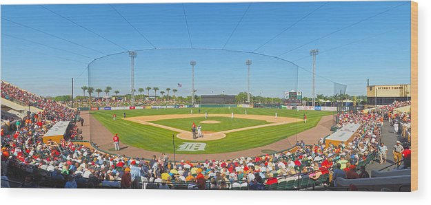 Detroit Tigers Wood Print featuring the photograph Tigers Grapefruit League by C H Apperson