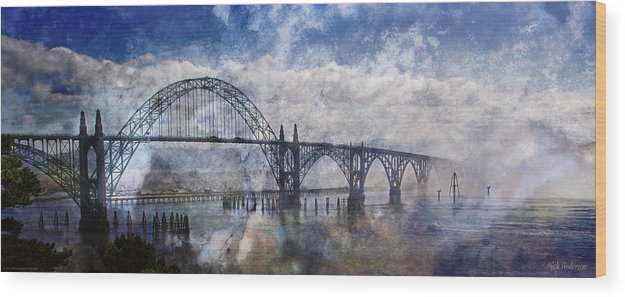 Panorama Wood Print featuring the photograph Newport Fantasy by Mick Anderson