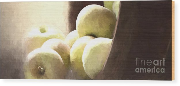 Apples Wood Print featuring the photograph Basket Of Apples by Pam Holdsworth