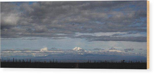Mountains Wood Print featuring the photograph Alaska Mountains by Dave Clark
