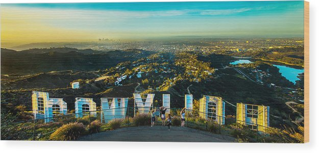 Los Angeles Wood Print featuring the photograph Hollywood Dreaming by Az Jackson