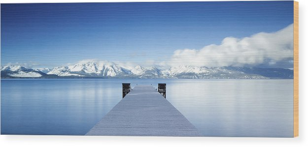 Lake Wood Print featuring the photograph Lake Tahoe Panorama by Matthew Train