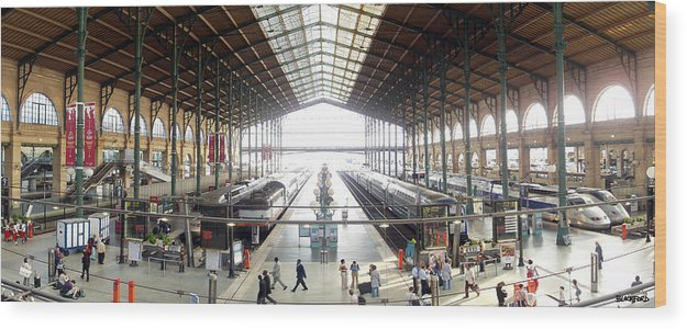 Paris Wood Print featuring the photograph Paris Train Station by Al Blackford