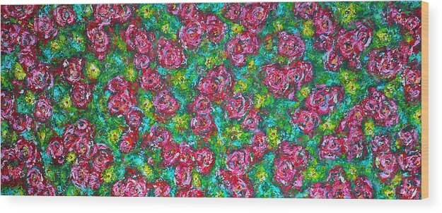 Garden Wood Print featuring the painting Roses Pattern by Ericka Herazo