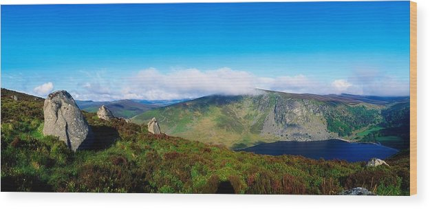 Barren Wood Print featuring the photograph Luggala And Lough Tay, Co Wicklow by The Irish Image Collection
