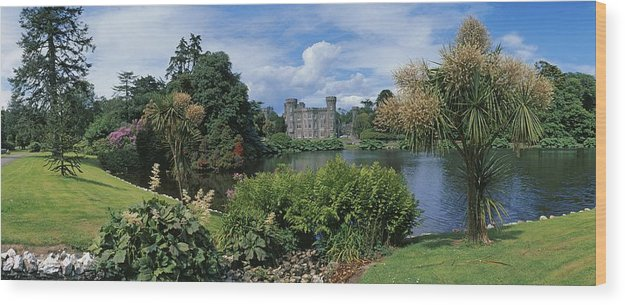 Architecture Wood Print featuring the photograph River In Front Of A Castle, Johnstown by The Irish Image Collection