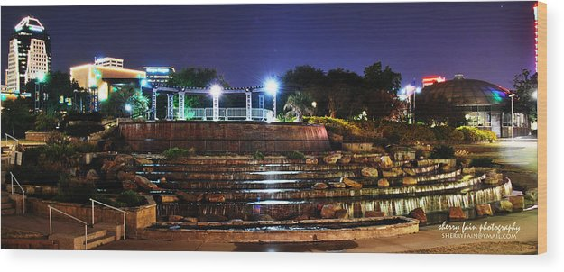 Downtown Wood Print featuring the photograph Downtown Shreveport by Sherry Fain