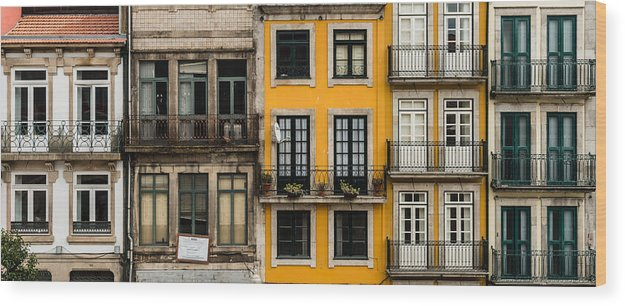 Porto Wood Print featuring the photograph Facades Of Porto by Jan Komsta