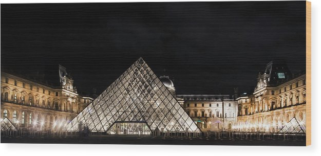 Paris Wood Print featuring the photograph Louvre Museum 6 Art by Alex Art and Photo
