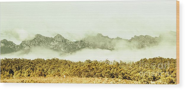 Nature Wood Print featuring the photograph Natural Mountain Beauty by Jorgo Photography - Wall Art Gallery