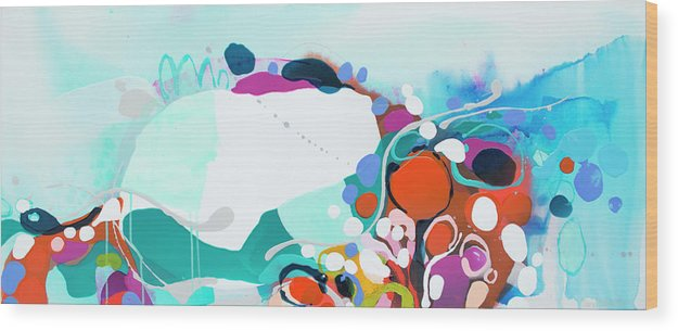 Abstract Wood Print featuring the painting New Ways by Claire Desjardins