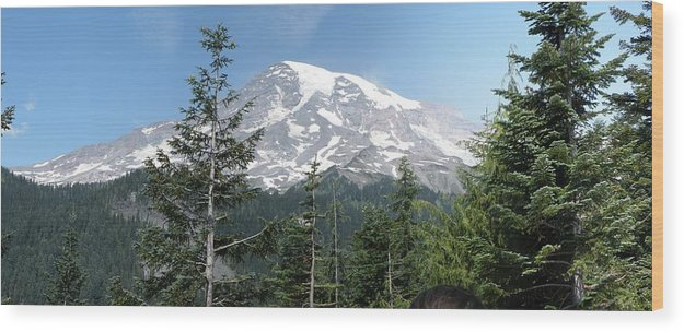 Mount Rainier Wood Print featuring the photograph The Mountain by Mark Camp