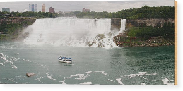 3scape Wood Print featuring the photograph American Falls by Adam Romanowicz